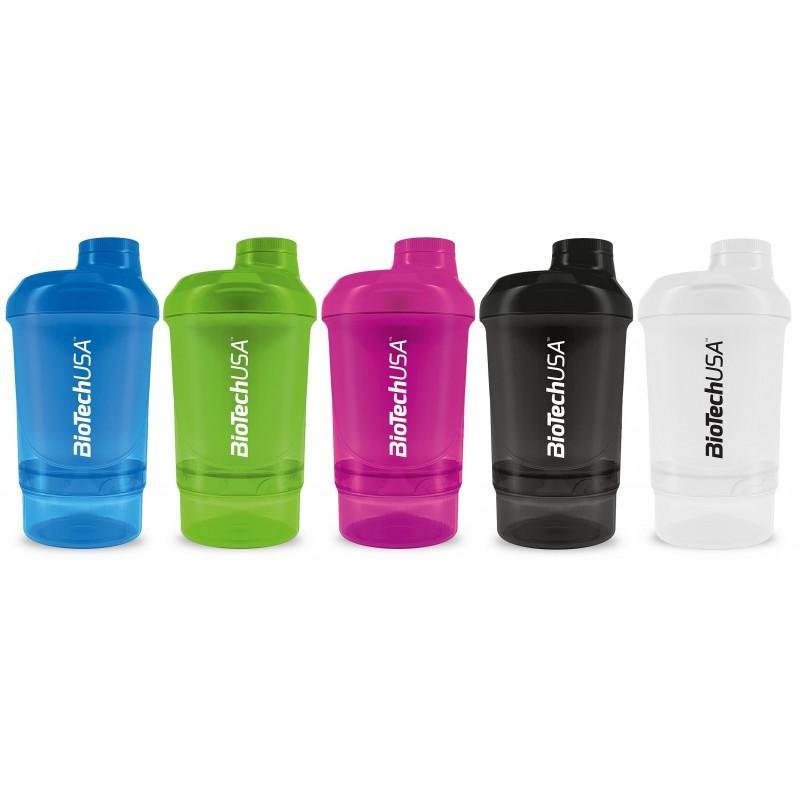 Mini Shaker Biotech 400ml con Compatimento