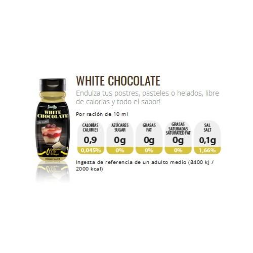 Servivita Salsa de Chocolate Blanco Sin Calorías