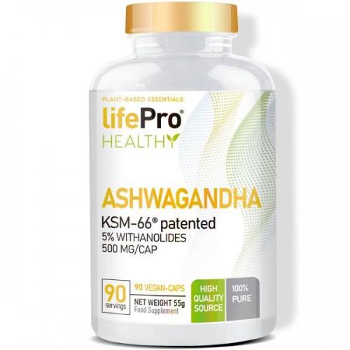 ASHWAGANDHA 500MG KSM66 90 VCAPS LIFE PRO