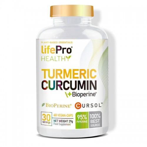 TURMERIC CURCUMIN +BIOPERINE 60 VEGANCAPS LIFE PRO